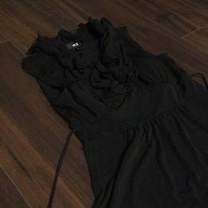 {BCX} black ruffle dress
